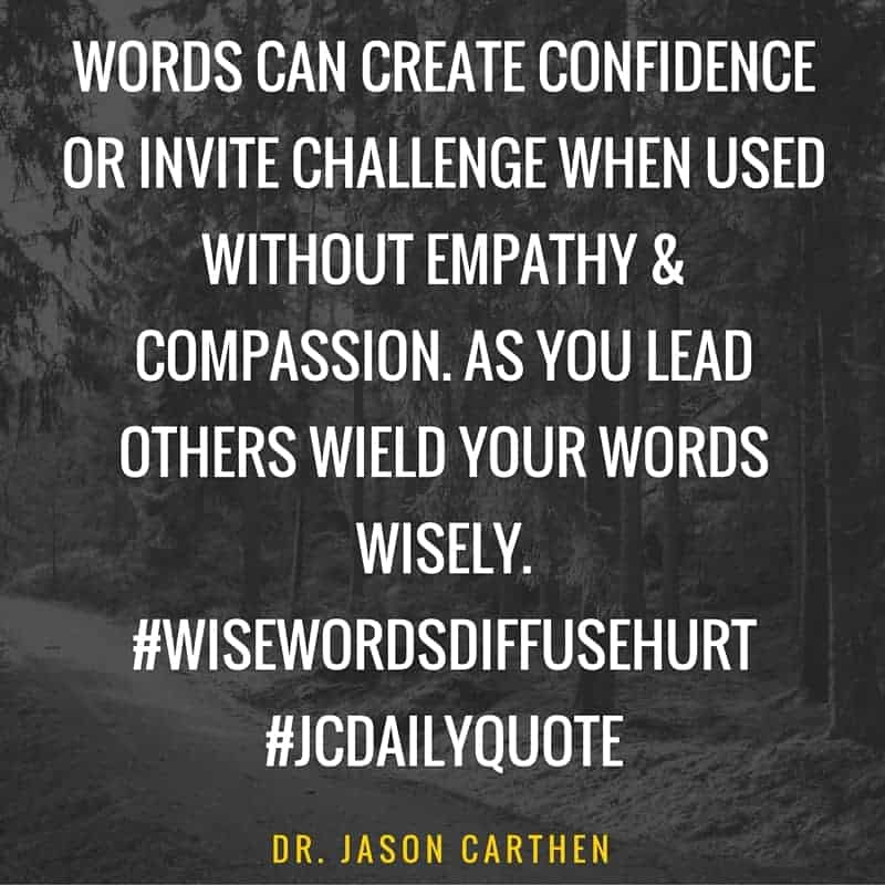Dr. Jason Carthen: the Power of Words