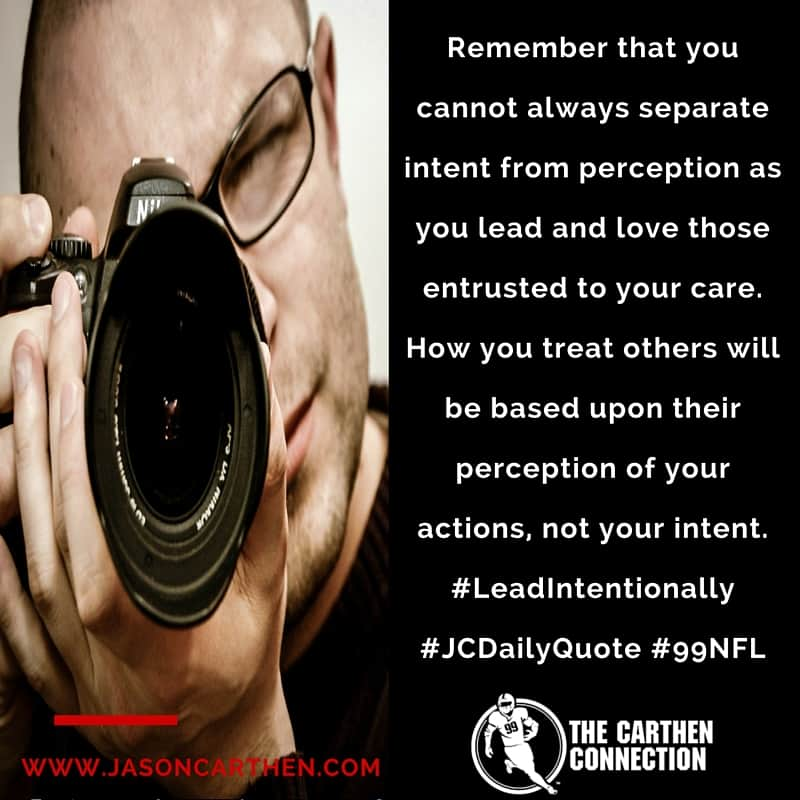 Dr. Jason Carthen: Perception and Intent