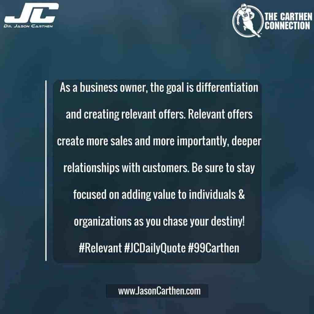 Dr. Jason Carthen: Relationships