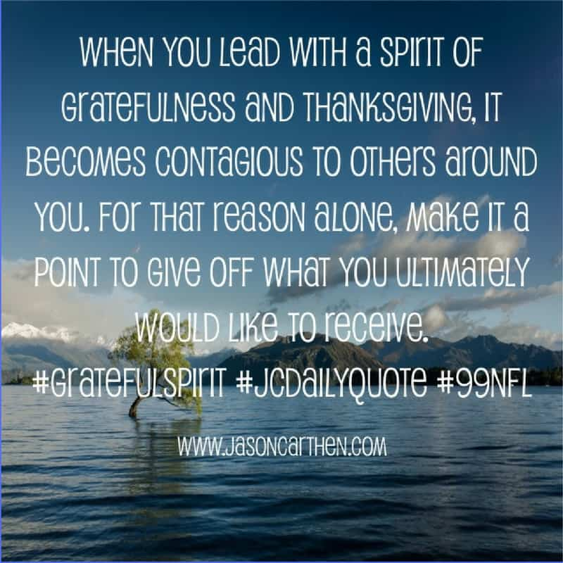 Dr. Jason Carthen: gratefulness