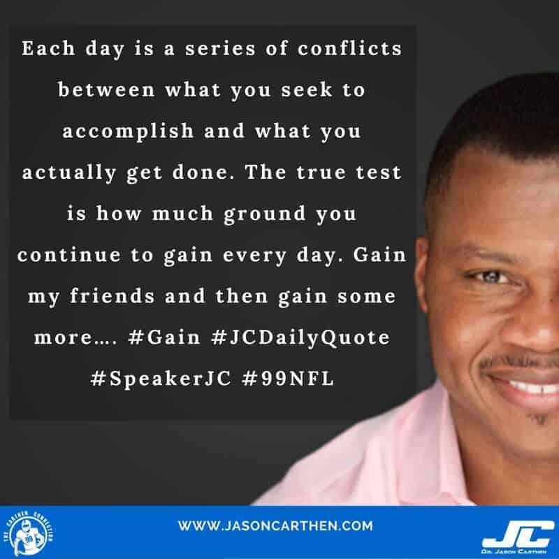 Dr. Jason Carthen: Conflict