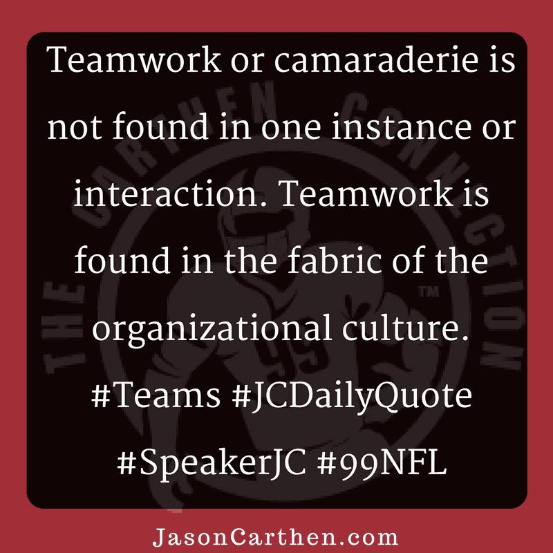 Dr. Jason Carthen: Teamwork