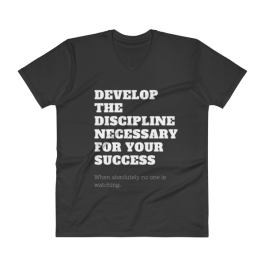 Develop Your Discipline V-Neck T-Shirt