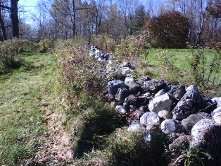 Stone wall behind Robert Frost's house