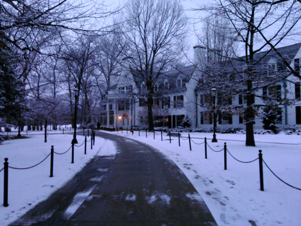 The Nittany Lion Inn in State College, PA. I took this photo on Jan. 20, 2015 on my way home from work.