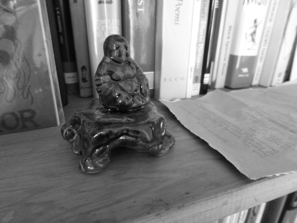 Ceramic Buddha made by Alamaba potter Po Wiese