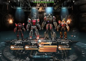 Transformers-Fall-of-Cybertron Multiplayer characters