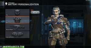 Call of Duty: Black Ops 3 Battery personalization