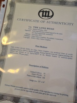 Certificate of authentticity