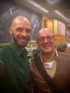 Myself and fellow author Michael Livingston