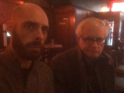 Alan and I making grumpy faces at a dive bar, one of several we visited.