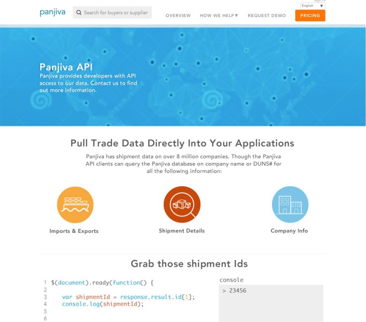 Panjiva - API comp