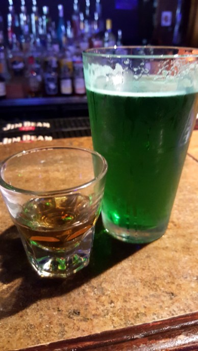 Jameson and Green Beer
