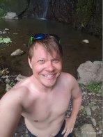 21. Cascada San Ramon - Jason near pool