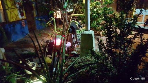 4. Liberia Hostel Bicycle Lamp