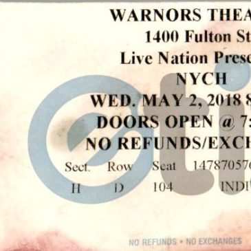 Neil Young and Crazy Horse at Warnors Theater May 2, 2018