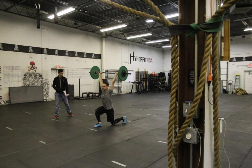 Overhead Walking Lunges CrossFit Open 2016 HyperFit USA