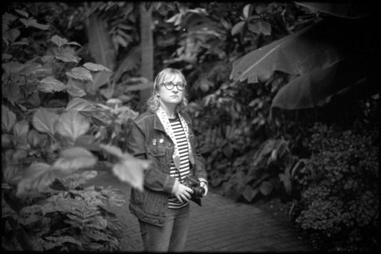 Kayla Bauer, photographer and my partner, at the Madison botanical garden, 2019