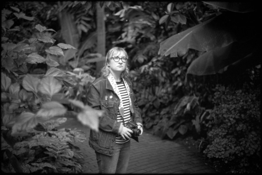 Kayla Bauer, photographer and my partner, at the Madison botanical garden, 2019