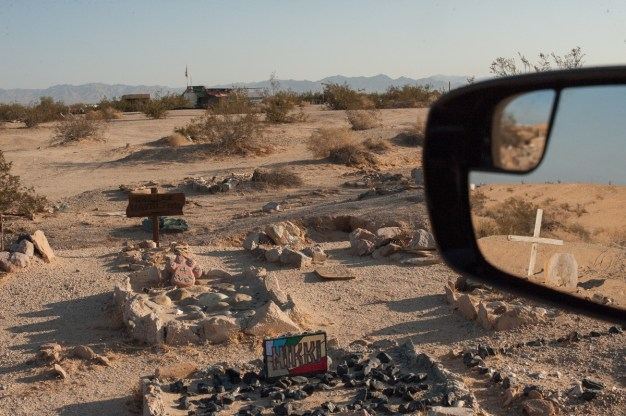 Dogs are so highly revered in the Slabs there are two pet cemeteries to lay one's best friend to rest in. Slab City, California 2018