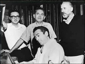 Sheldon Harnick, Joseph Stein, Jerry Bock, and Jerome Robbins