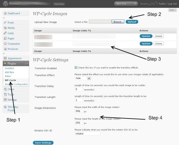 WP-Cycle settings