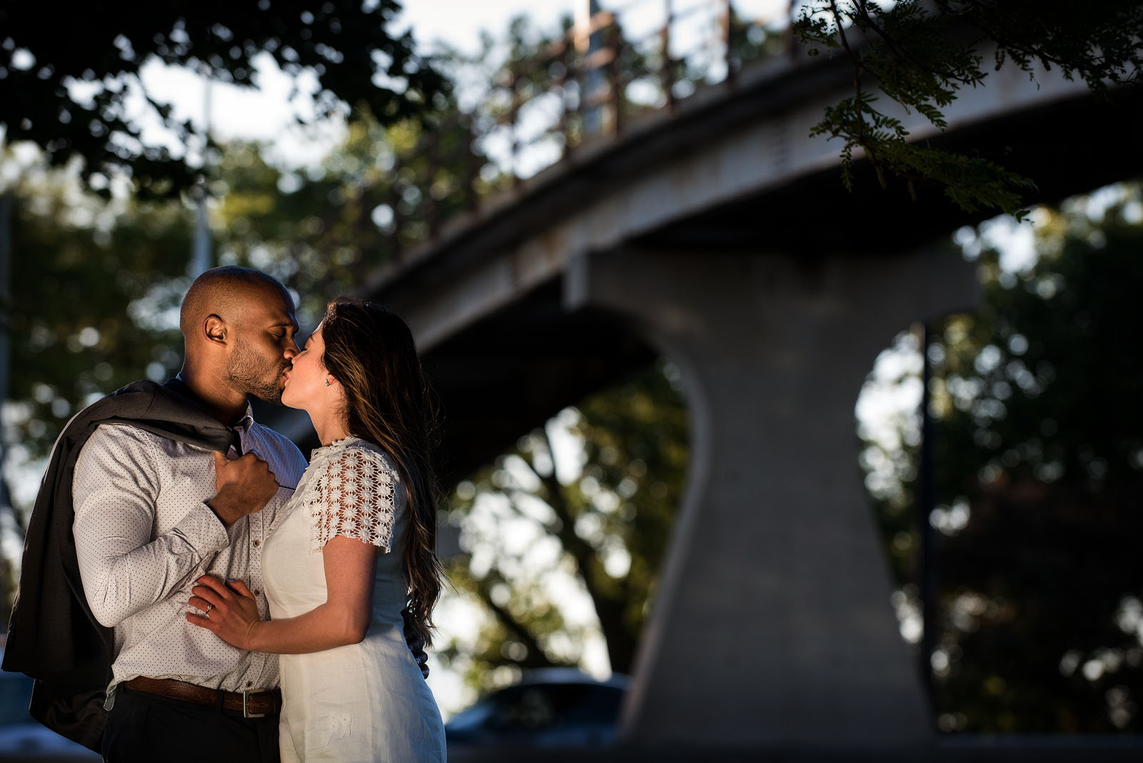 Sunrise Engagement Session Bridge