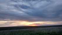 Sunset north of Johnson City, Kansas