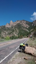 Climbing Colorado's Front Range west of Pueblo, CO