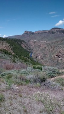 Gunnison River gorge west of the Blue Mesa dam