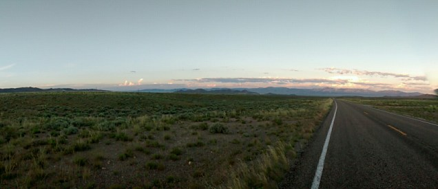 Sunset over Baker, NV