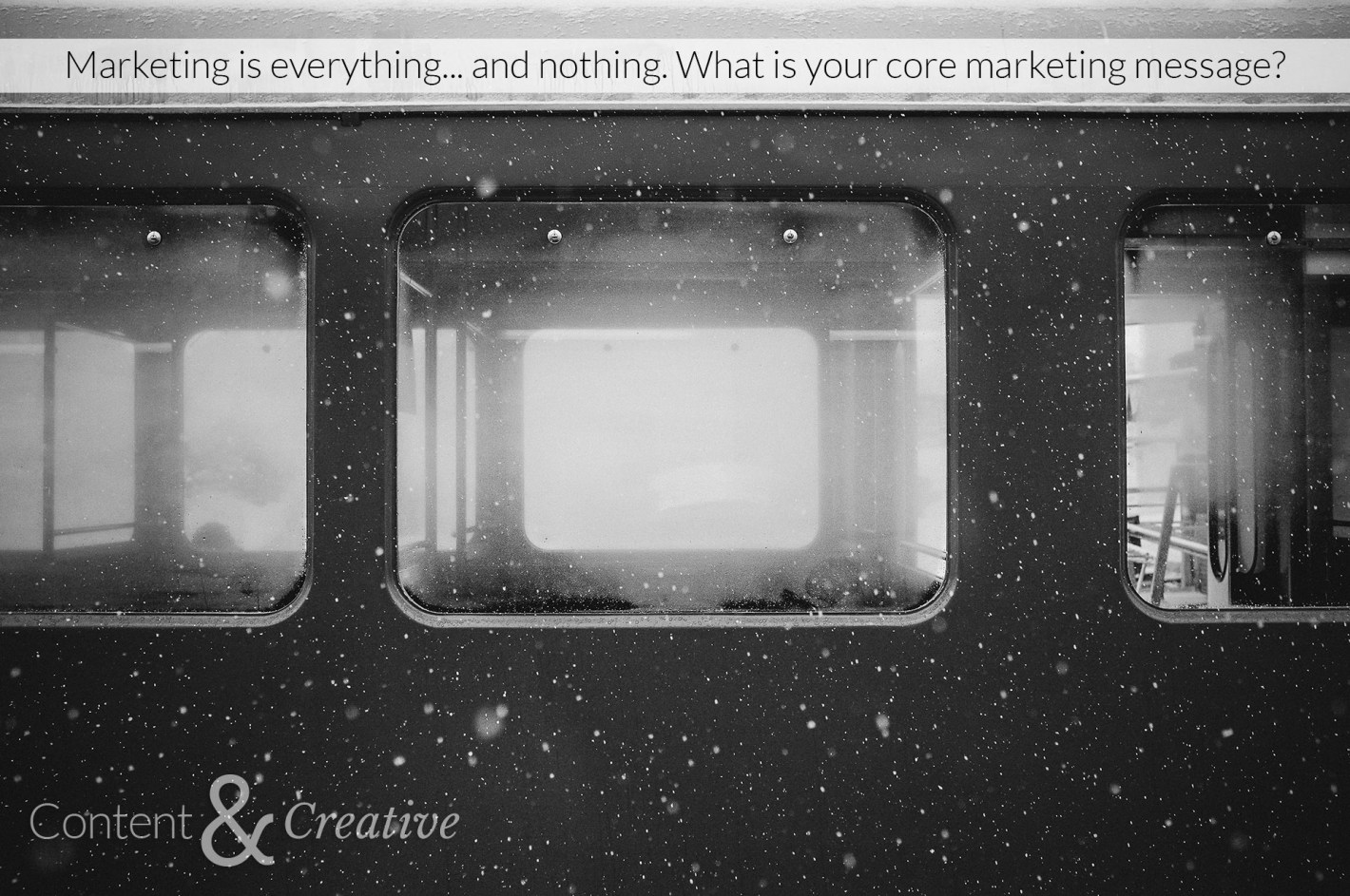 what is a marketing message