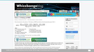 Whizzbangsblog.com