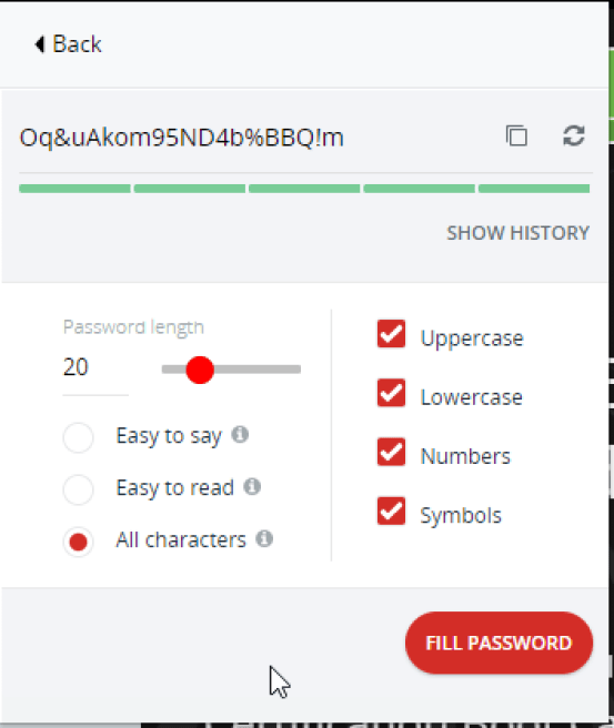 Generate Secure Passwords