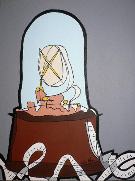 Jason Oliva Painting 2005 Ticker Taper II