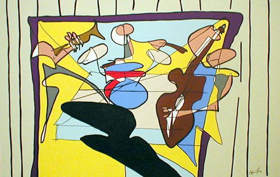 Jazz Jason Oliva 2003 Painting by Jason Oliva