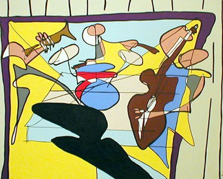 Jazz Jason Oliva 2003 Painting by Jason Oliva