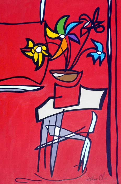 Red-Still-Life-with-Flowers-and-Table-Jason-Oliva-2010.jpg