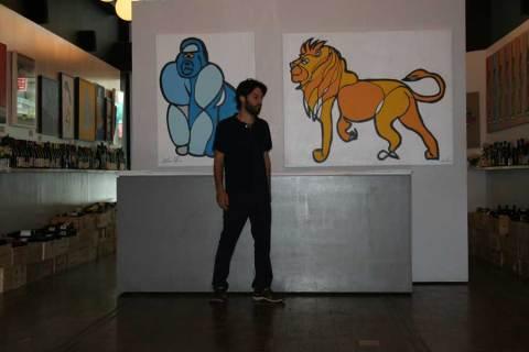Sculpture Jason Oliva Gorilla and Lion
