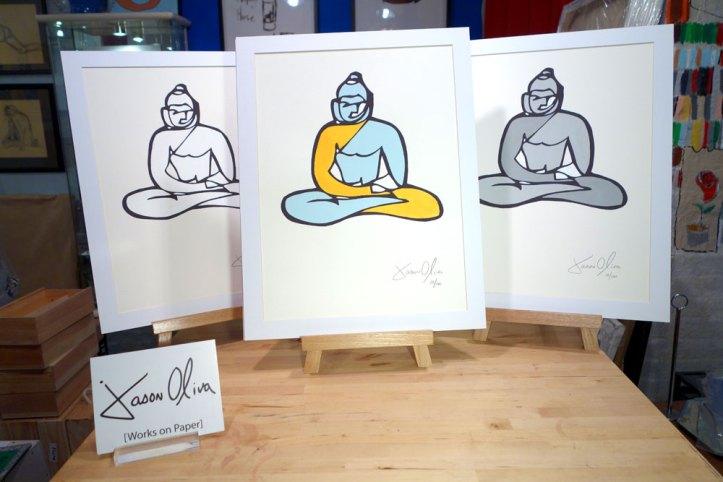Works on paper Buddha three variations Jason Oliva