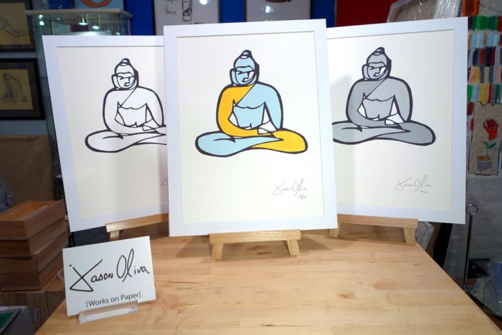 Works on paper Buddha three variations Jason Oliva