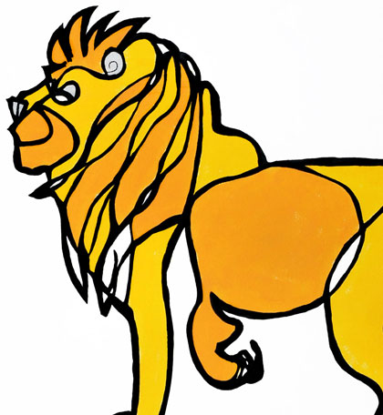 Lion Jason Oliva Art Work On Paper