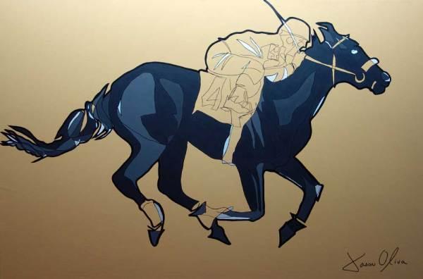 promise me a cat Racehorse portraits-jason-oliva-painting