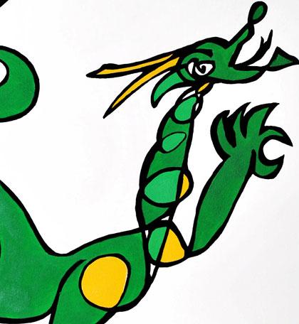 Dragon Jason Oliva Work on Paper Art