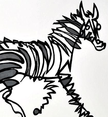 Stripey Horse Zebra Jason Oliva Art Paitning