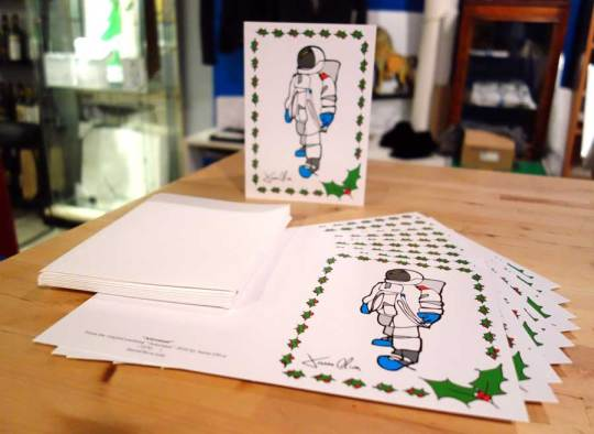 Holiday Card Astronaut Jason Oliva Christmas Card