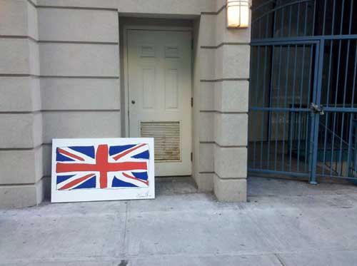Jason Oliva British Flag Painting