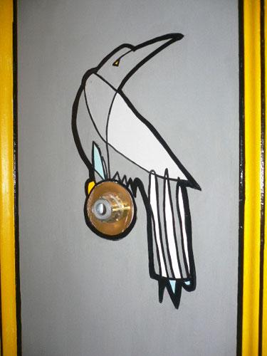 Jason Oliva Bird on Door Commission