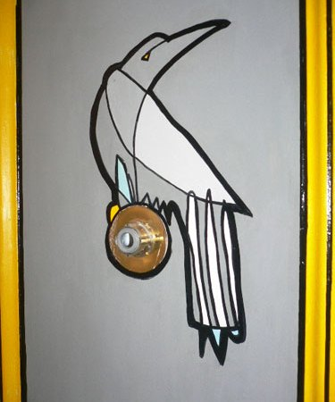 Jason Oliva Bird on Door Commission