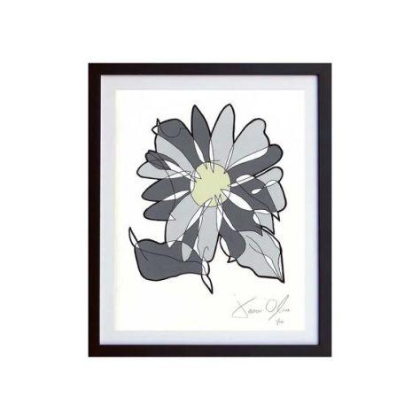 grey flower work on paper jason oliva
